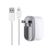Belkin Swivel Charger + Lightning ChargeSync Cable - White