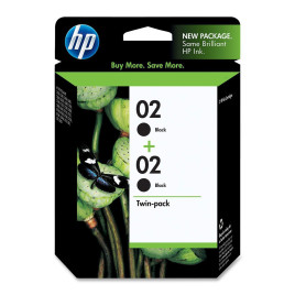 HP 02 Black Twin Pack