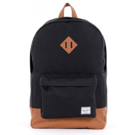 "Herschel Heritage Backpack - 15"" - Poly Black/Tan"