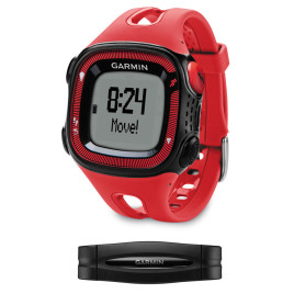 Garmin Forerunner 15 Red and Black with Heart Rate Monitor