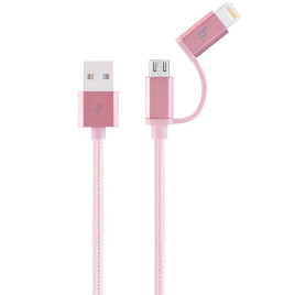 Hoco Metal MFI Charging Cable 1.2m-Rose Gold