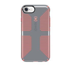 Speck iPhone 7 Candyshell Grip Nickel Grey/Warning Orange