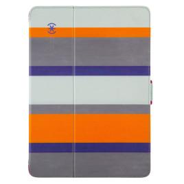 Speck iPad Air and iPad Air 2 StyleFolio Cabana Stripe/Sea Glass Blue/Vivid Purple
