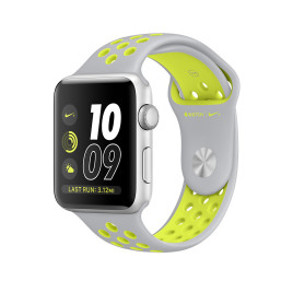 Apple Watch S2 Nike+ 38mm Silver Aluminum Case with Flat Silver/Volt Nike Sport Band