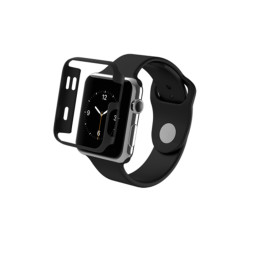 Zagg InvisibleShield Luxe Bumper Case for the Apple Watch S1 / S2 42mm - Black