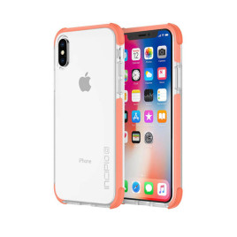 Incipio Reprieve Sport for iPhone X - Coral/Clear