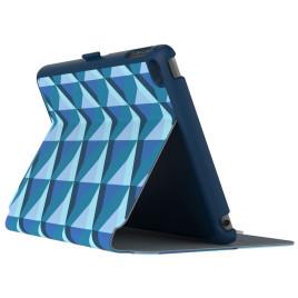 Speck iPad mini 4 Stylefolio Playa Geo - Blueberry/Dolphin Grey/Deep Sea Blue