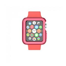 Speck CandyShell Fit Case for Apple Watch 38mm - Crimson Red/Splash Pink