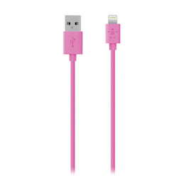 Belkin Cable Lightning USB Sync/ Charge 2.4A 15cm/6in Pink