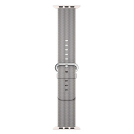 Apple Watch 42mm Woven Nylon Pearl Band