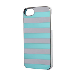 Incase Stripes Snap Case for iPhone 5 - Silver Chrome/Blue Stripes