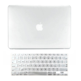 "TopCase 2-in-1 Rubberized Hard Case Cover and Keyboard Cover - Macbook White Unibody 13"" with TopCase Mouse Pad - White"