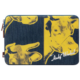 "Incase Designs Corp Warhol Protective Sleeve for 15"" MacBook Pro/ Pro Retina Display - Denim Cow / Black/Yellow"