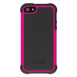 Ballistic Screen Guard Case for iPhone 5 -  Black/Hot Pink