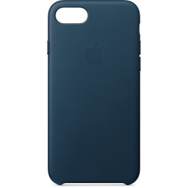 Apple iPhone 8/7 Leather Case - Cosmo Blue