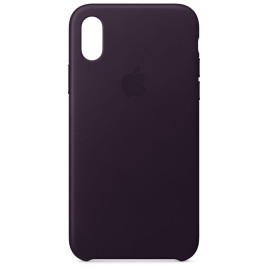Apple Leather Case para iPhone X- Dark Aubergine
