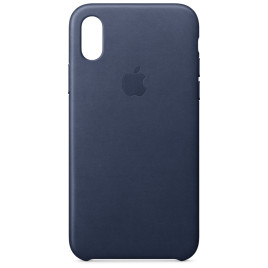 Apple Leather Case - iPhone X - Midnight Blue