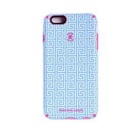 Speck Candyshell Inked - iPhone 6/6s - Aqua Greek Key/Lipstick Pink