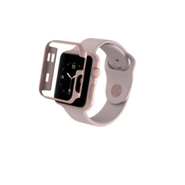 ZAGG InvisibleShield Luxe Bumper Case for the Apple Watch S1 / S2 38mm - Rose Gold