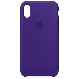 Apple Silicone Case para iPhone X - Ultra Violet