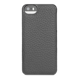 Adopted Leather Wrap Case for iPhone 5 - Pewter/Gunmetal