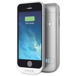 PhoneSuit Elite Battery Case for iPhone 5/5s/SE - Silver
