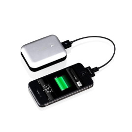 Just Mobile Gum Max Duo Deluxe USB Power with 2 USB Ports - Silver
