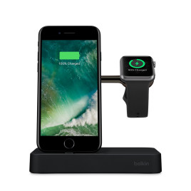 Belkin Valet Charge Dock for Apple Watch + iPhone - Black
