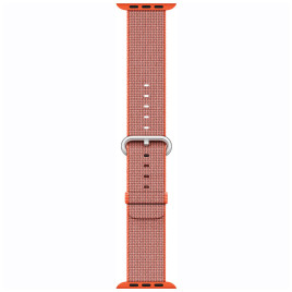 Apple Watch 38mm Woven Nylon Band - Space Orange / Anthracite