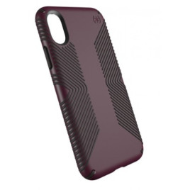 Speck Presidio Grip Case for iPhone X - Fig Purple/Ochre Black
