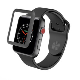 ZAGG InvisibleShield Glass Luxe for Apple Watch 42mm - Black