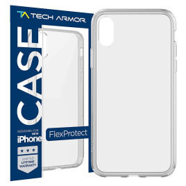 Tech Armor FlexProtect Case for Apple iPhone X - Clear
