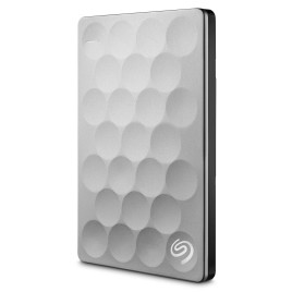Seagate 2TB Ultra Slim Backup Plus Portable Hard Drive - Platinum