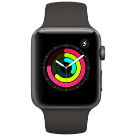 Apple Watch Series 3 38mm Smartwatch GPS Only - Space Gray Aluminum Case, Black Sport Band