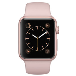 Apple Watch S2 38mm Rose Gold Aluminum Case with Pink Sand Sport Band