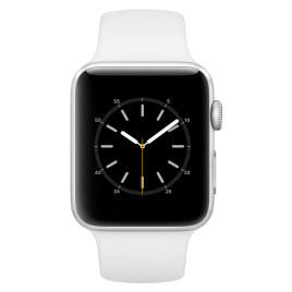 Apple Watch S2 42mm Silver Aluminum Case with White Sport Band