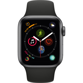 Apple Watch Series 4 GPS, 40mm Space Gray Aluminum Case - Black Sport Band