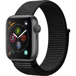 Apple Watch Series 4 GPS, 40mm Space Grey Aluminium Case  - Black Sport Loop
