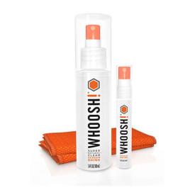 Whoosh Screen Shine Duo+Desk Bottle & Pocket Sprayer W/2 Antimicrobial Microfiber Cloths Box