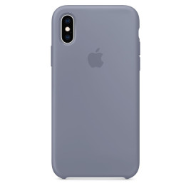 Apple iPhone XS Silicone Case - Lavender Gray