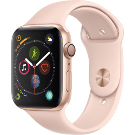 Apple Watch Series 4 GPS, 44mm Gold Aluminum Case - Pink Sand Sport Band.