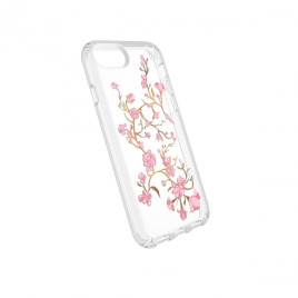 Speck iPhone 8/7/6/6S Presidio Clear + Print - Golden Blossoms Pink/Clear