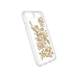 Speck iPhone 8/7/6/6S Presidio Clear + Print - Shimmer Floral Metallic Yellow/Clear