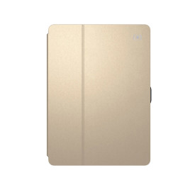 Speck Balance Folio Metallic for iPad 9.7-Inch (2017), 9.7-Inch iPad Pro, iPad Air 2/Air - Textured White Gold/Graphite Grey