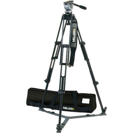 Miller DS-20 Aluminum Tripod System - consists of: DS-20 Fluid Head, DS 2-Stage Tripod, On-Ground Spreader and Softcase - Supports 20 lbs